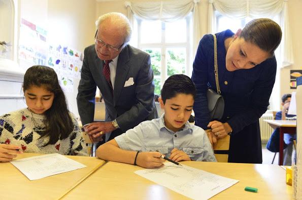 Princess Victoria And King Carl Gustaf Visited Swedish Migration Board