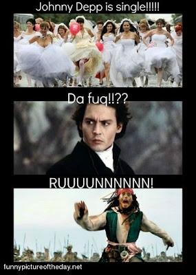 Johnny Depp Single Funny Brides