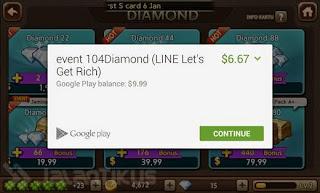pembelian diamond lets get rich sukses