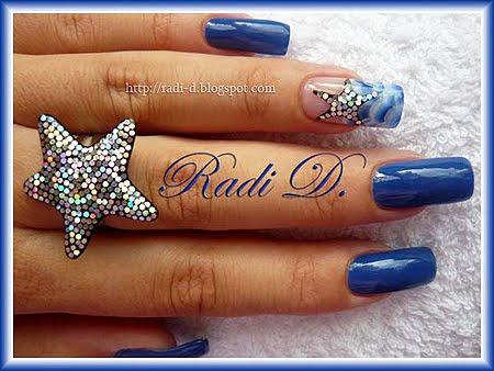 пръстен от UV гел морска звезда