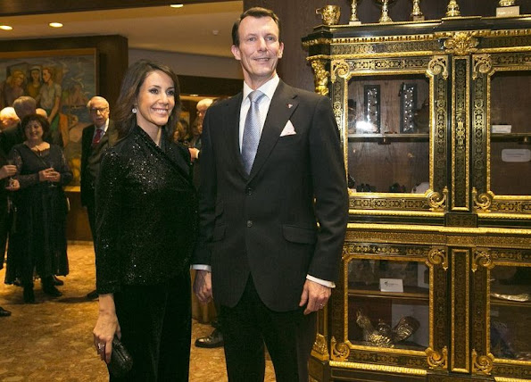 Princess Marie wore Emporio Armani Blazer - Coat - Prince Joachim and Princess Marie of Denmark attended a gala dinner in Reykjavik, Iceland, which is hosted by the Denmark-Iceland Community Association and organized on the occasion of 100th anniversary