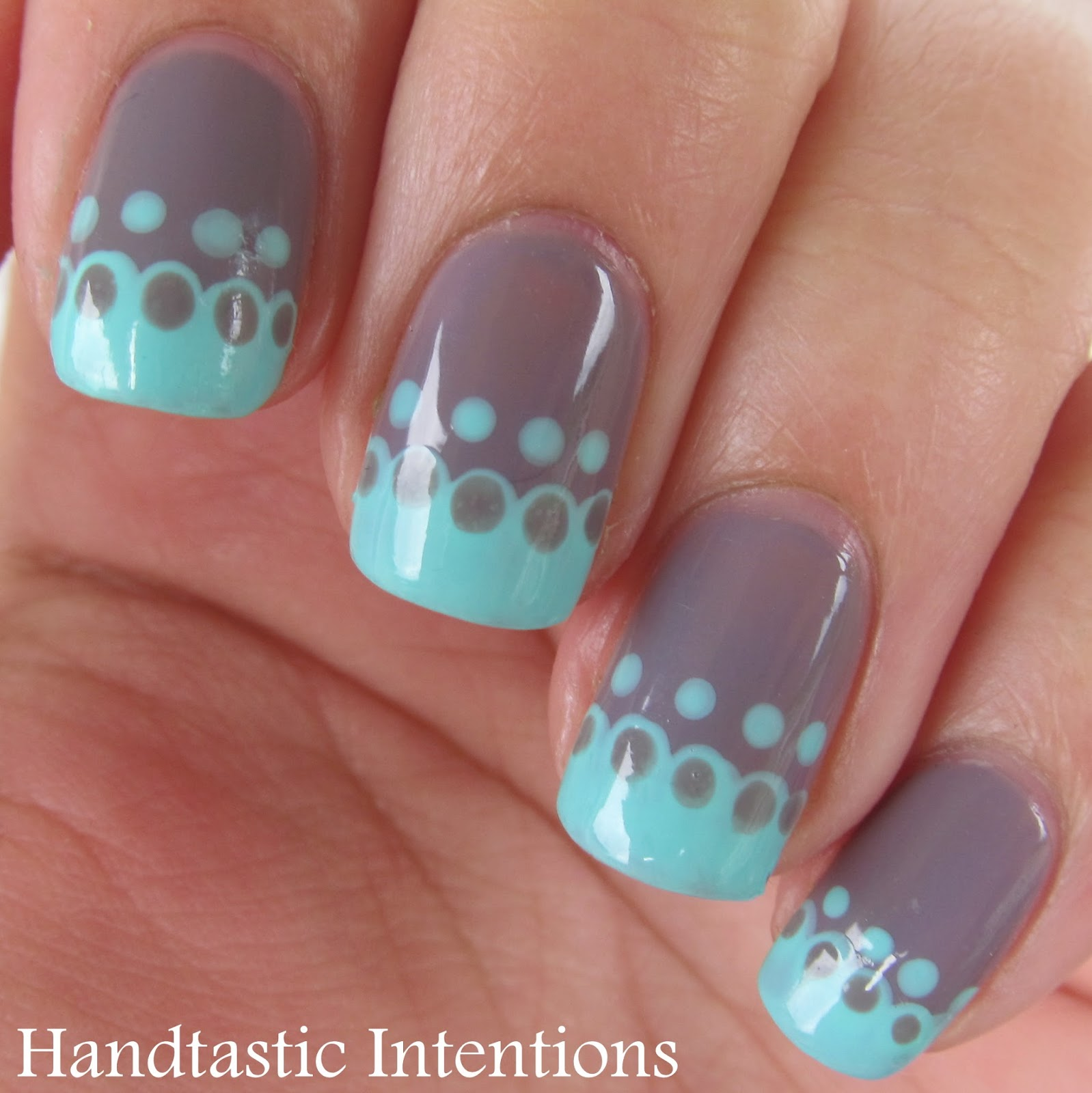 Handtastic Intentions: Nail Art: Simple Lace French Tip
