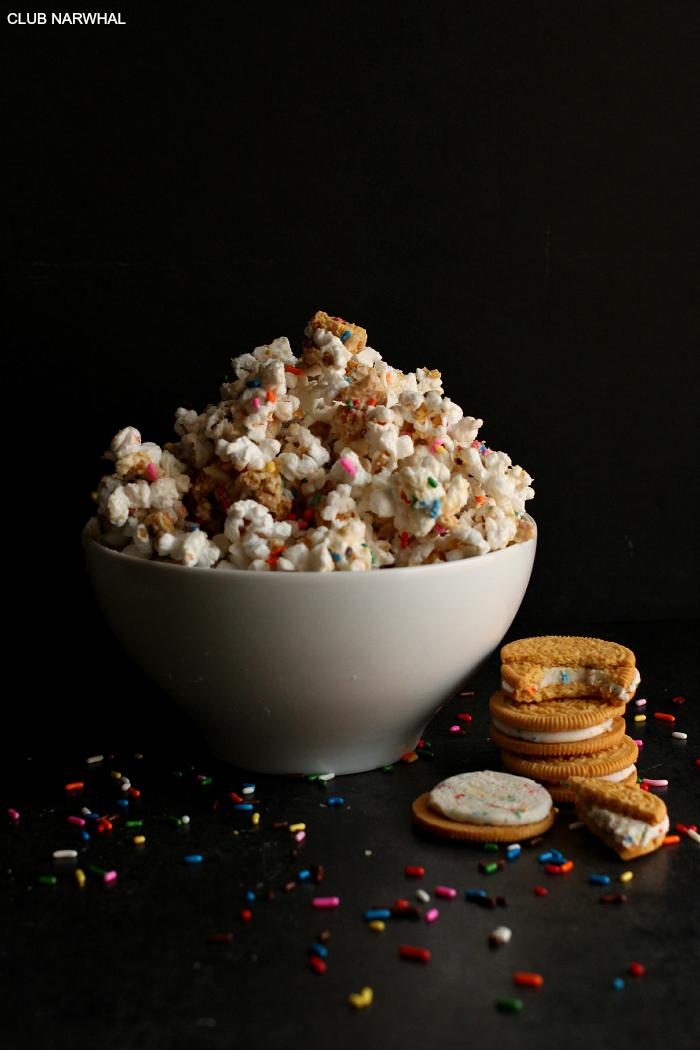 Birthday Cake Oreo Popcorn | Club Narwhal