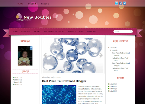 New Boubles Blogger Theme