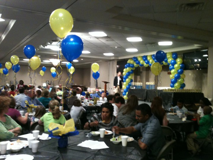 In character productions cds sports banquet decorations for Athletic banquet decoration ideas