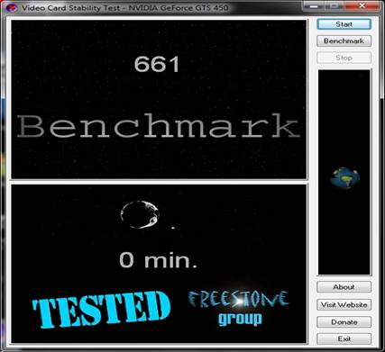 video card stability test: