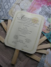 wedding program fan tutorial