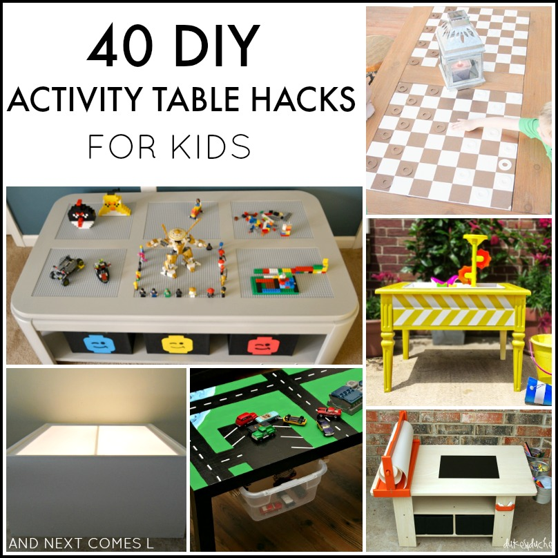 40 Diy Activity Table Hacks For Kids And Next Comes L