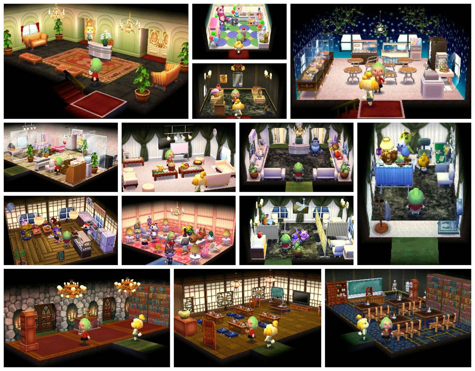 nintendo 3ds 2ds animal crossing exterior and interior design game
