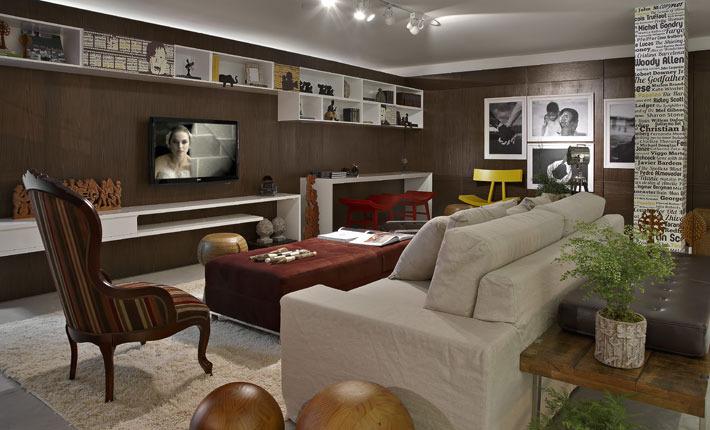Sala De Estar E Tv No Mesmo Ambiente ~ de estar pode se tornar também uma sala de TV com muita elegância e