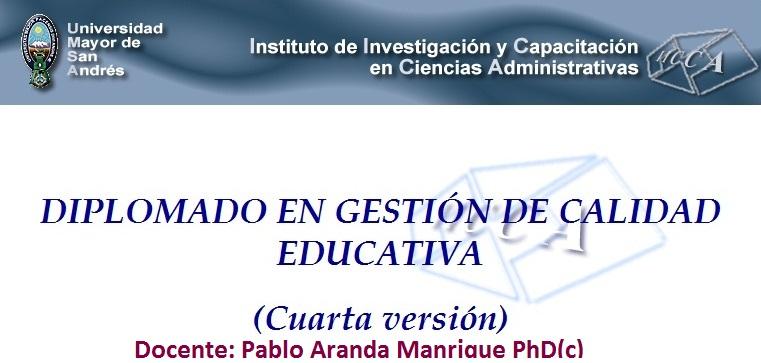 DIPLOMADO EN GESTIÓN DE CALIDAD EDUCATIVA IICA-UMSA