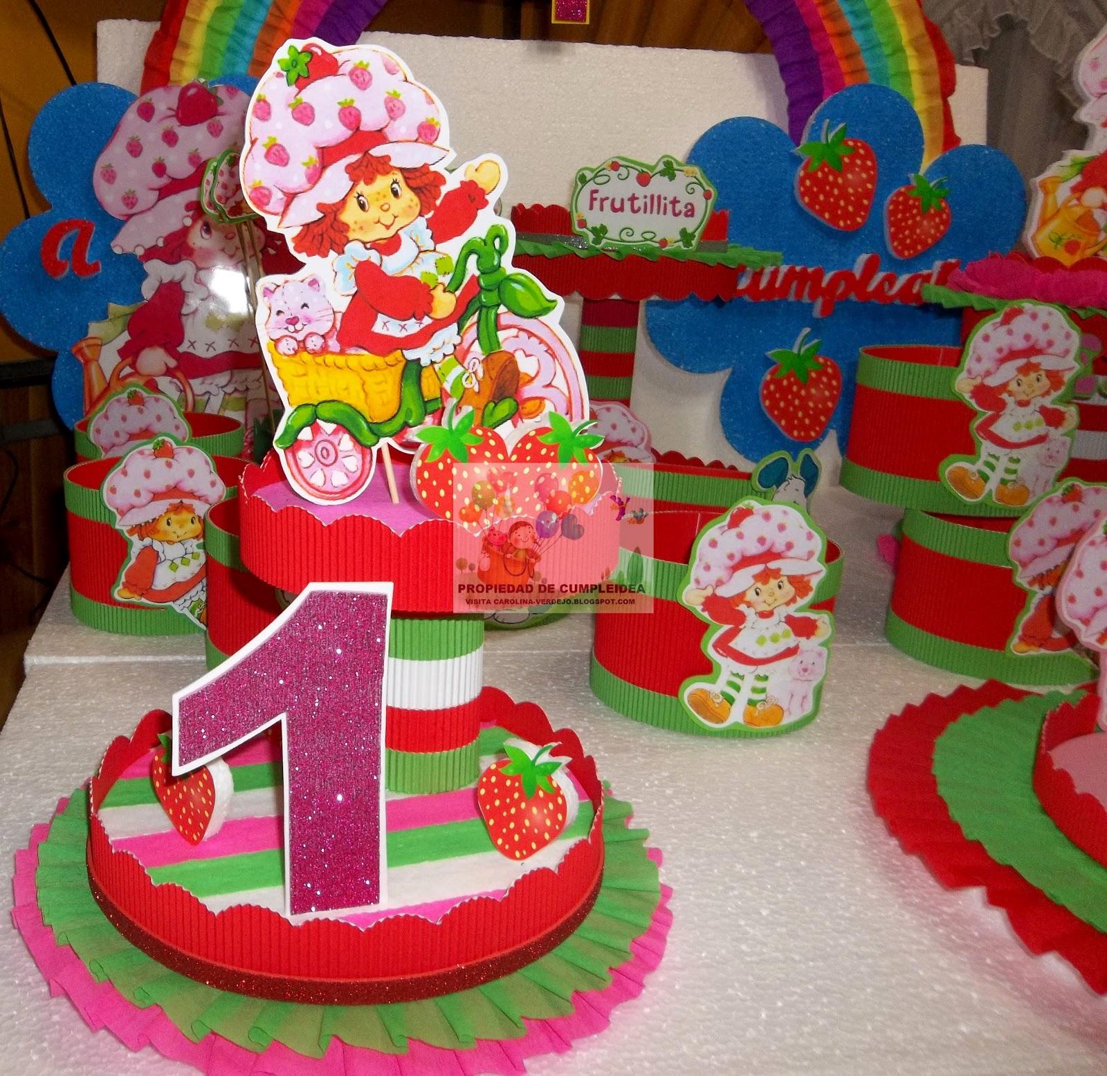Decoraciones infantiles frutillita - Decoracion de centros de mesa ...
