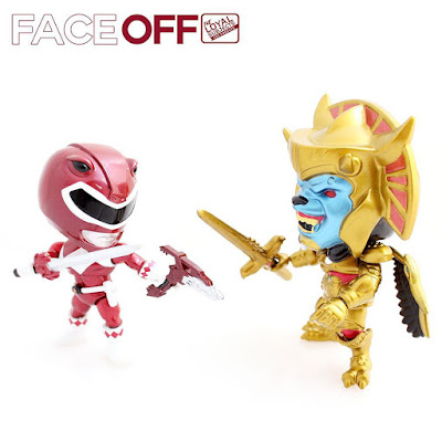 "San Diego Comic-Con 2015 Exclusive Mighty Morphin Power Rangers ""Metallic"" Red Ranger vs Goldar 2 Pack by The Loyal Subjects"