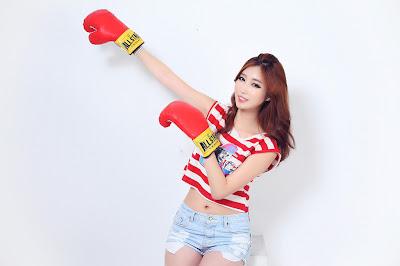 Shin Se Ha Sexy Model Boxing Beauty