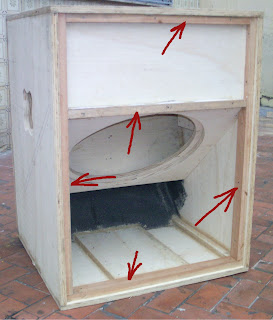 montagem de caixas acústicas
