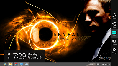 James Bond Sky Fall 007 Windows 8 Theme, Sky Fall 007 Theme For Windows 8