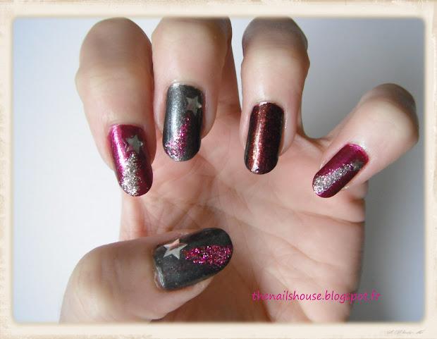 """nail art """"shooting star"""""""
