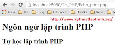 Sử dụng lệnh print trong PHP