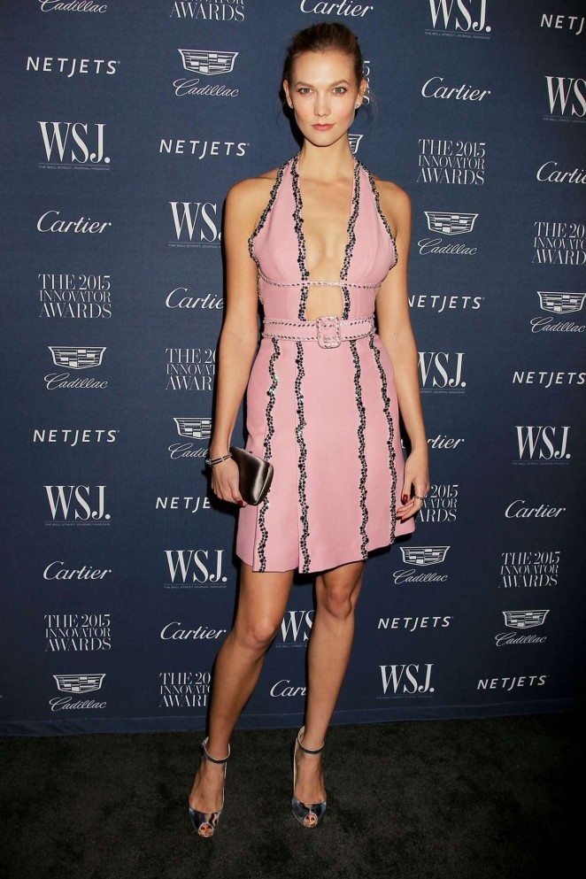 Karlie Kloss takes the plunge at the WSJ Innovator Awards in NYC