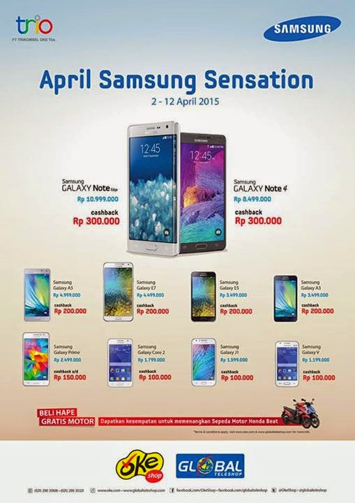 Samsung April Sensation Cashback