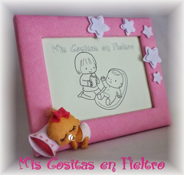 marco para fotos, portafotos, bautizo, bebé, regalo, bebita, baby portrait, baby photograph, foto criança, baby, felt, feltro, fieltro