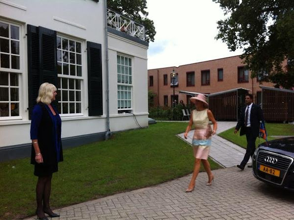 Queen Maxima of The Netherlands visited Papageno House in Laren