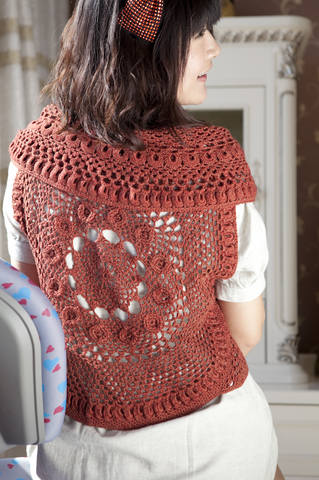crochet round bolero for ladies