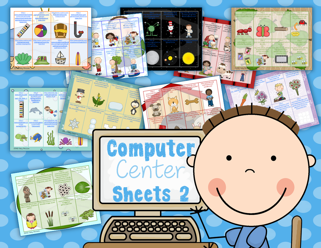 http://www.teacherspayteachers.com/Product/Computer-Center-Sheets-2-Themes-1115007