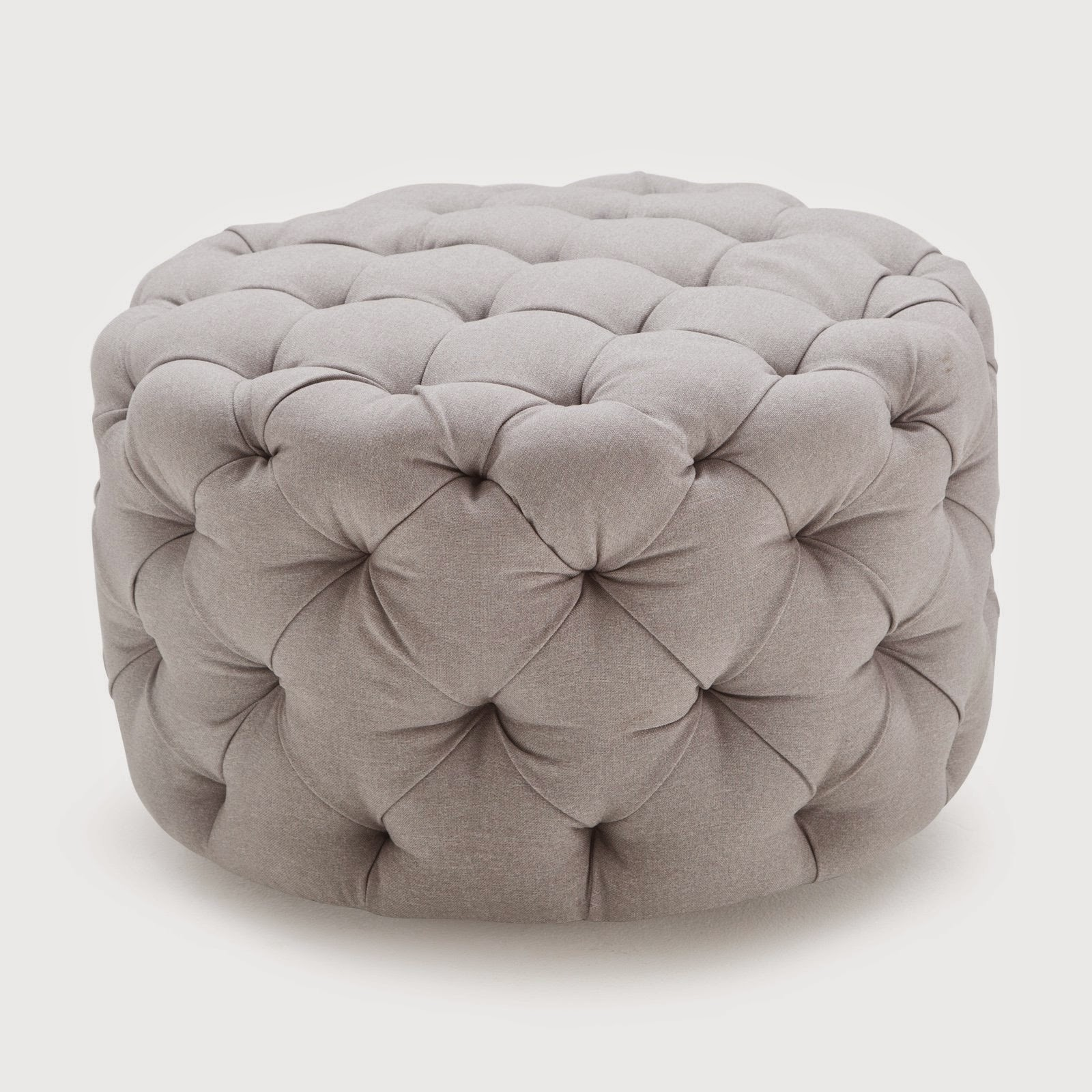 Tufted Ottoman Round Red Images