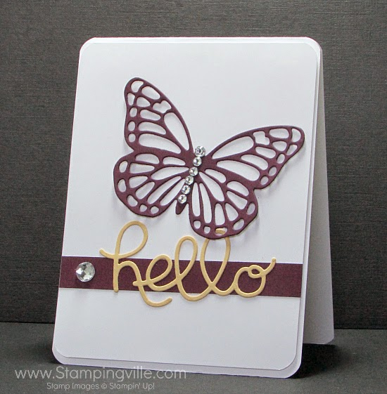 Stampin' Up! Butterflies Thinlits Dies + Hello You Thinlits Dies #cardmaking #papercrafts #StampinUp
