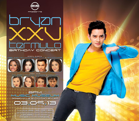 Bryan Termulo XXV Birthday Concert at Music Museum on March 9