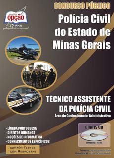 Apostila PC MG - TÉCNICO ASSISTENTE DA POLÍCIA CIVIL - PCMG.