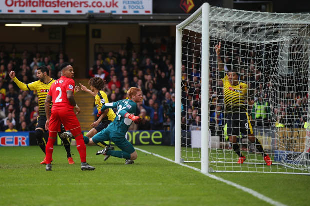HOWLER: Adam Bogdan's error gifted Watford the lead