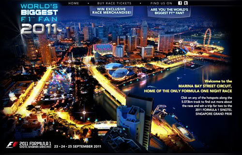 Singapure 2011 iluminada circuitor F1