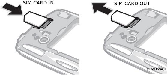 Sony Ericsson Xperia Play R800 Insert Slot Remove SIM Card