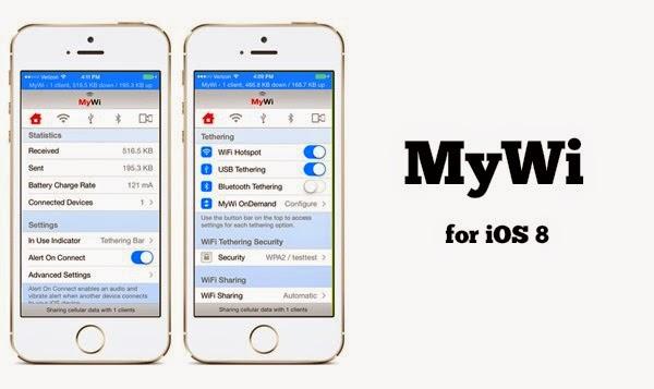 MyWi untuk iOS 8