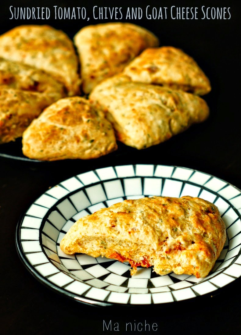 Sundried Tomato, Chives & Goat Cheese Scones, shared by Ma Niche