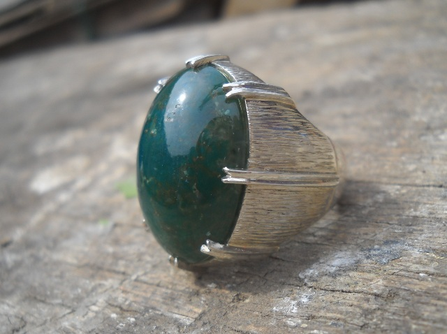 AG141- SOLD - Batu Garut Hijau Rande... Antik Sekali !!!