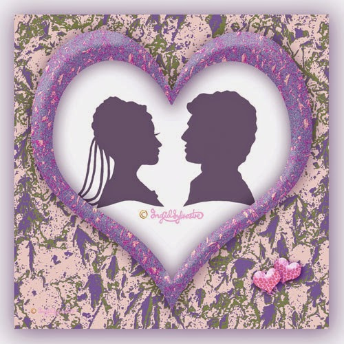 Wedding entertainment North East - Wedding Silhouettes, Wedding silhouette in frame by North East UK silhouette artist Ingrid Sylvestre