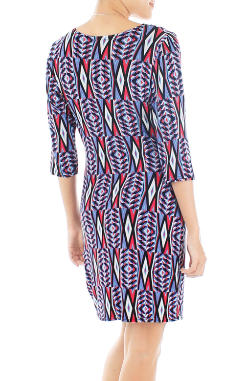 Psychedelic Aztec Wrap Dress – Pink