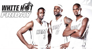 NBA2K13 Miami Heat White Hot Jersey