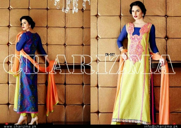 Charizma Range Embroidered Swiss Voil & Lawn Collection 2014