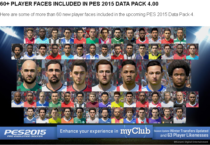 Download PES 2015 Data Pack 4.0 DLC 1.04
