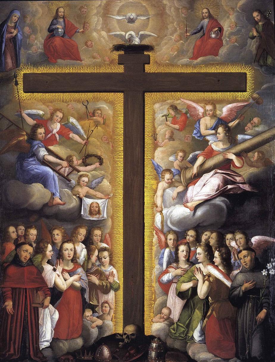 Domenica 14 settembre: Esaltazione della Santa Croce dans immagini sacre esaltazione+della+croce+con+santi+francescani