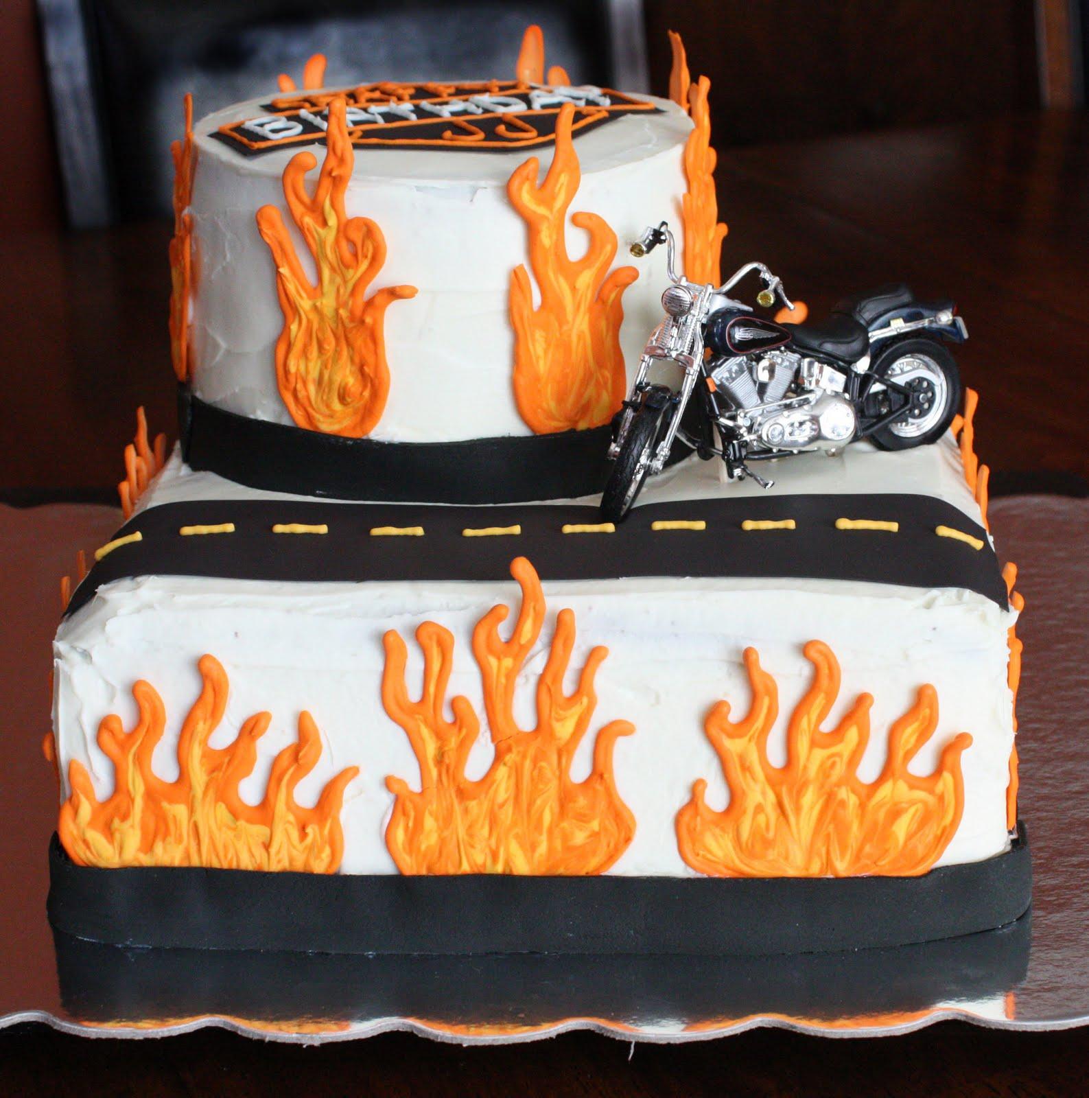 Pin Davidson Party Supplies Dash Harley Photo Edible Image Cake Cake ...