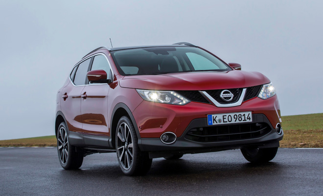 2014 Qashqai viewed from the front