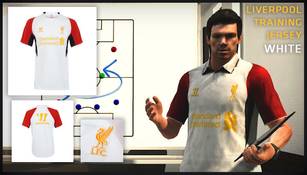 PES 2013 Training Kits White Liverpool FC 2012/13 by JIYIN 
