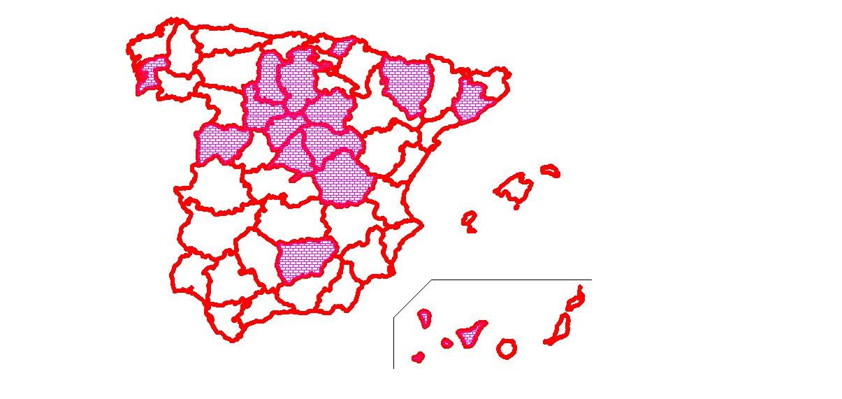 Cartografía media maratoniana española