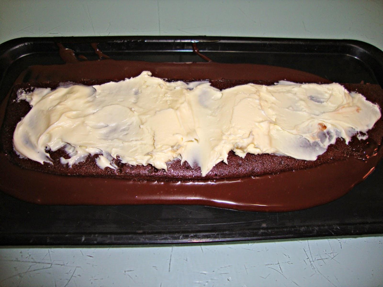 Relleno Milhojas de chocolate