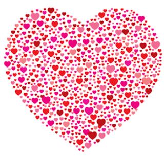Corazón formado por corazoncitos